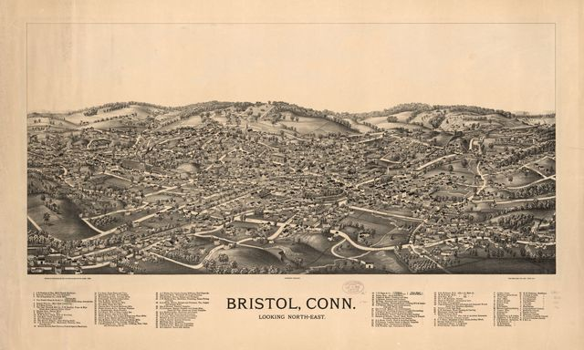 Bristol, Conn. looking north-east.