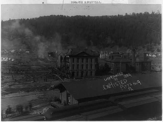 Cambria Company's store looking towards kernville, Johnstown Flood, May 31st, 1889