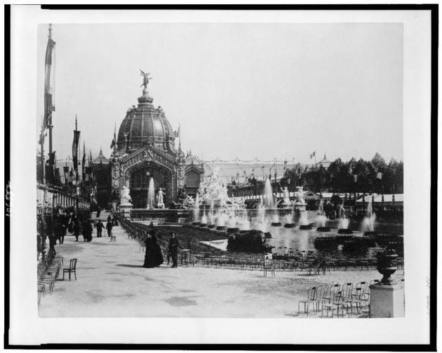 [Central Dome, with Fountain Coutan in foreground, Paris Exposition, 1889]