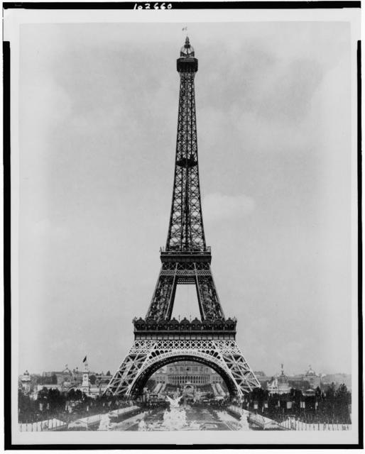 [Eiffel Tower and Fountain Coutan, looking toward Trocadéro Palace, Paris Exposition, 1889]