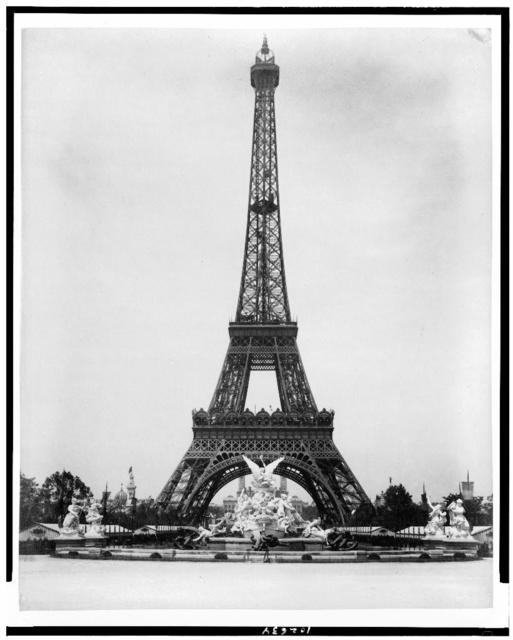 [Eiffel Tower and Fountain Coutan, Paris Exposition, 1889]