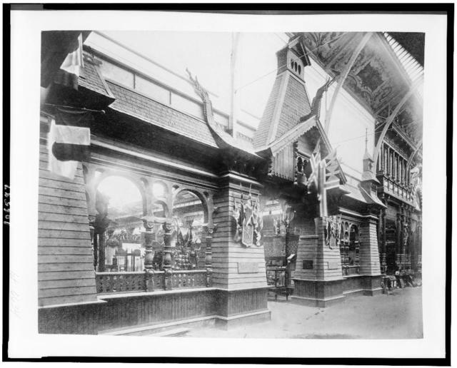 [Entrance to the Norwegian exhibit, Palace of Diverse Industries, Paris Exposition, 1889]