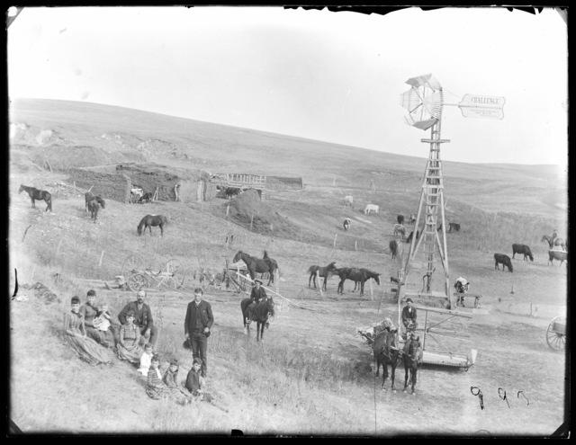 Family on a stock ranch in northwest Custer County, Nebraska.