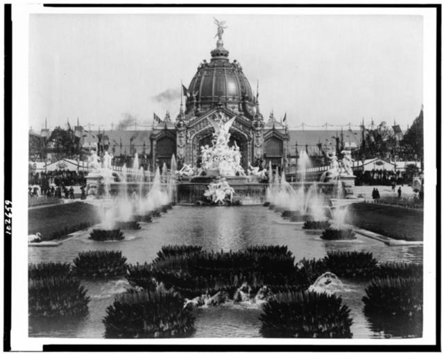 [Fountain Coutan and the Central Dome, Paris Exposition, 1889]