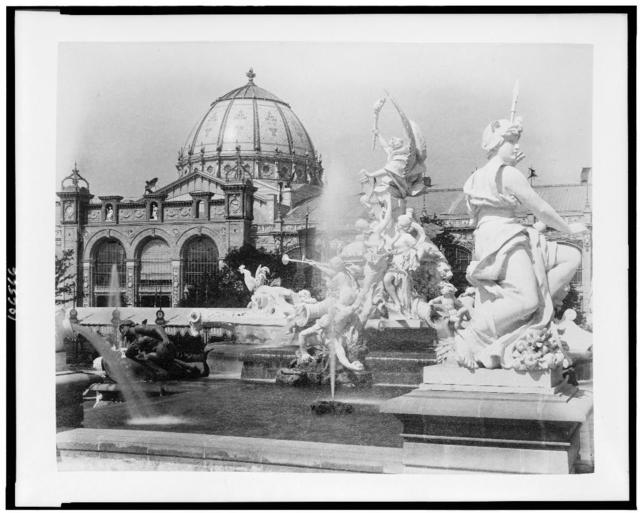 [Fountain Coutan and the Palace of Fine Arts, Paris Exposition, 1889]