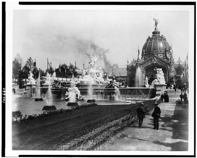 [Fountain Coutan with the Central Dome in the background, Paris Exposition, 1889]