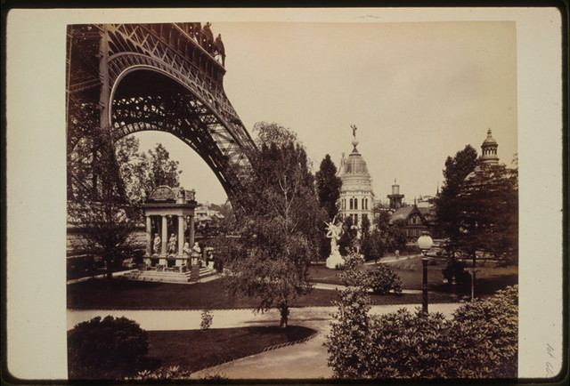 [Gas Pavilion, with base of the Eiffel Tower on left, Paris Exposition, 1889]