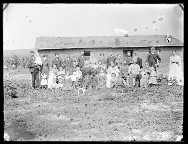 Hopkins family, between Ansley and Berwyn on the south side of the railroad tracks, Custer County, Nebraska.