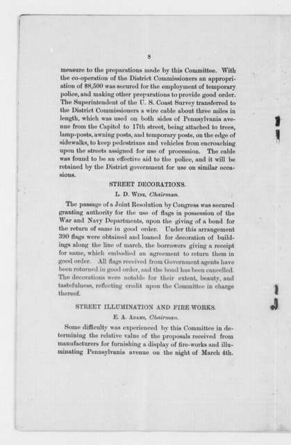 Inaugural Ceremonies, Washington, D.C., 1889
