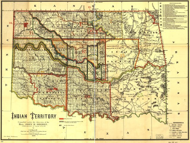 Indian territory: compiled under the direction of the Hon. John H. Oberly, Commissioner of Indian Affairs, by C.A. Maxwell.