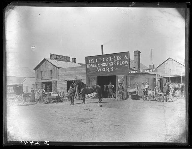 John Delane Wagon Shop, Broken Bow, Custer County, Nebraska.