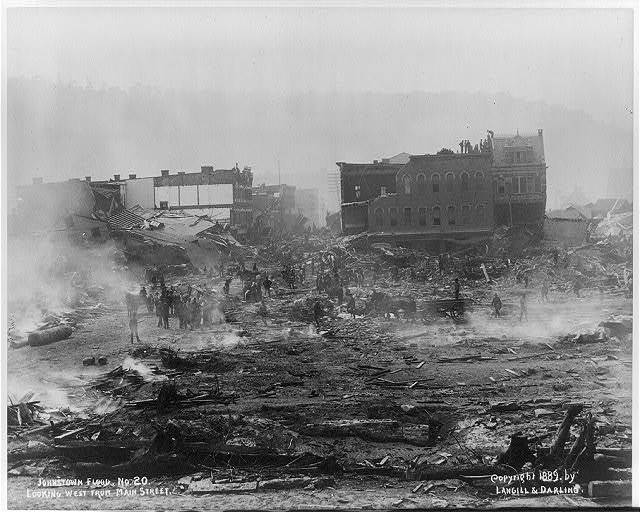 Johnstown Flood, 1889: Looking W. from Main St. #20