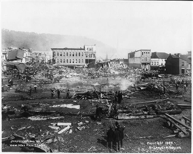 Johnstown flood. No. 11. View near Main Street