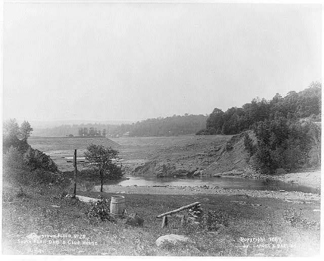 Johnstown flood, [Pennsylvania], South Fork Dam and club house
