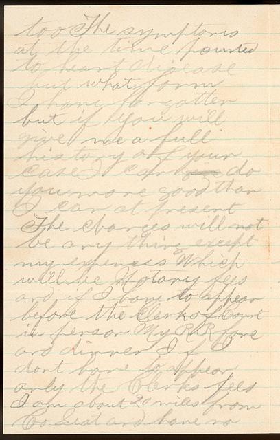 Letter from C. S. Bishop to Uriah W. Oblinger, November 8, 1889