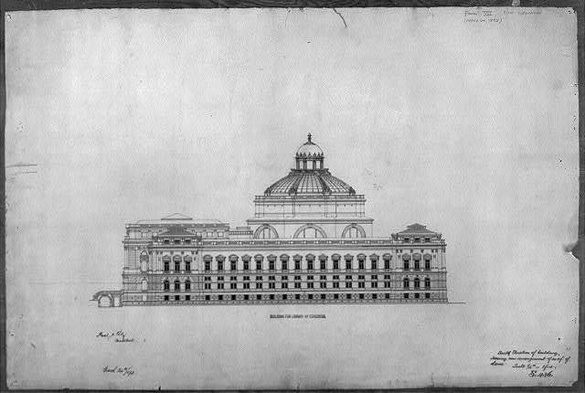 [Library of Congress, Washington, D.C. South elevation of building]