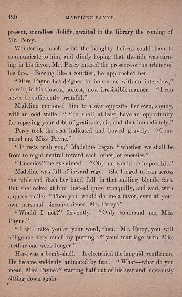 Madeline Payne, the detective's daughter
