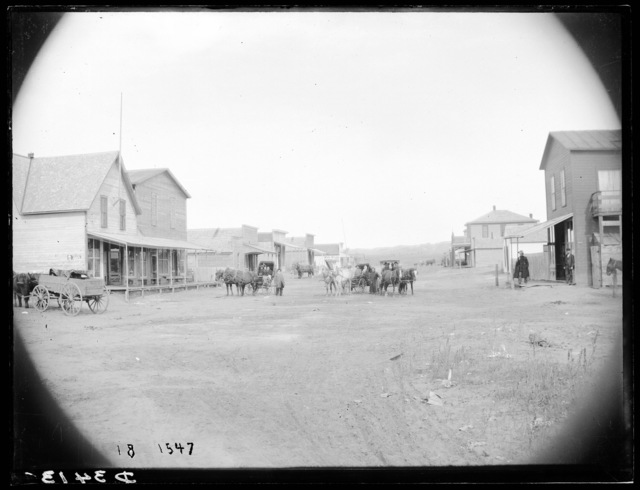 Main street of Arnold, Custer County, Nebraska.