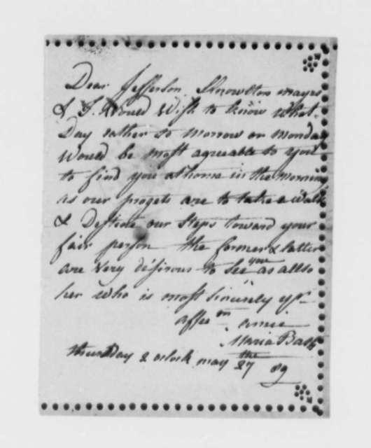 Maria Bath to T. J. Randolph IV, May 27, 1889