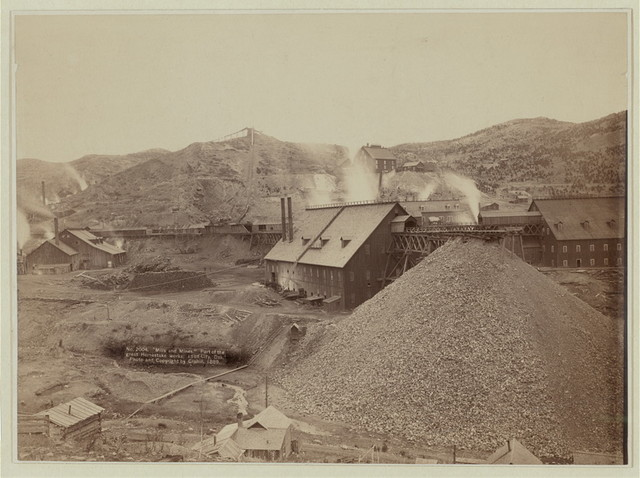 """""""Mills and mines."""" Part of the great Homestake works, Lead City, Dak."""