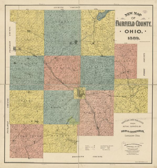 New map of Fairfield County, Ohio /
