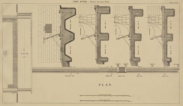 Ohio River - Davis Island dam, plate no. 2, plan