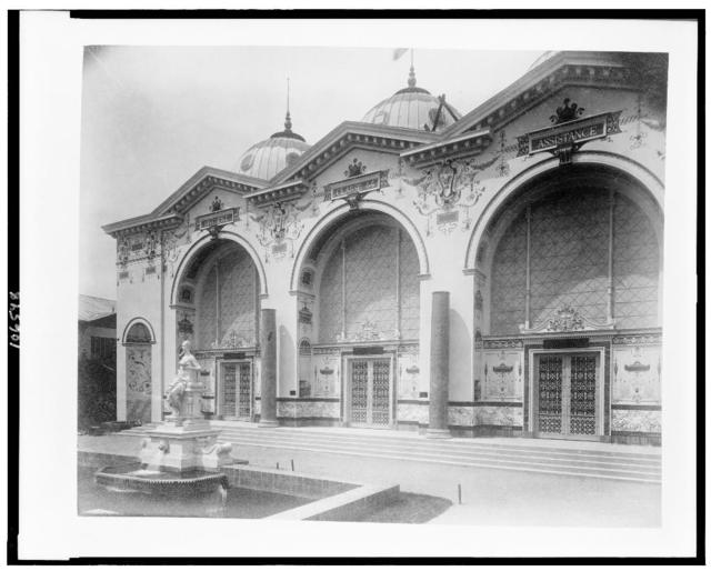 [Pavilion of Hygiene and Public Assistance, Paris Exposition, 1889]