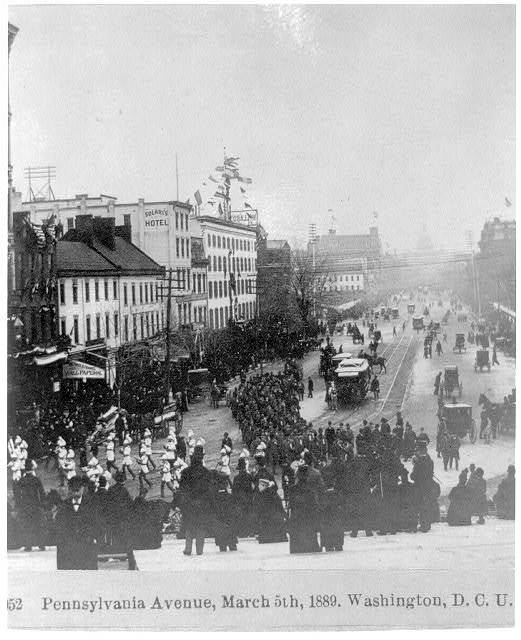 Penn. Ave. March 5, 1889, Wash. D.C.
