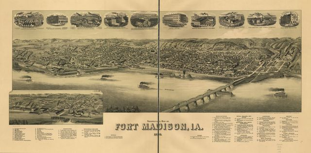 Perspective map of Fort Madison, Ia. 1889.