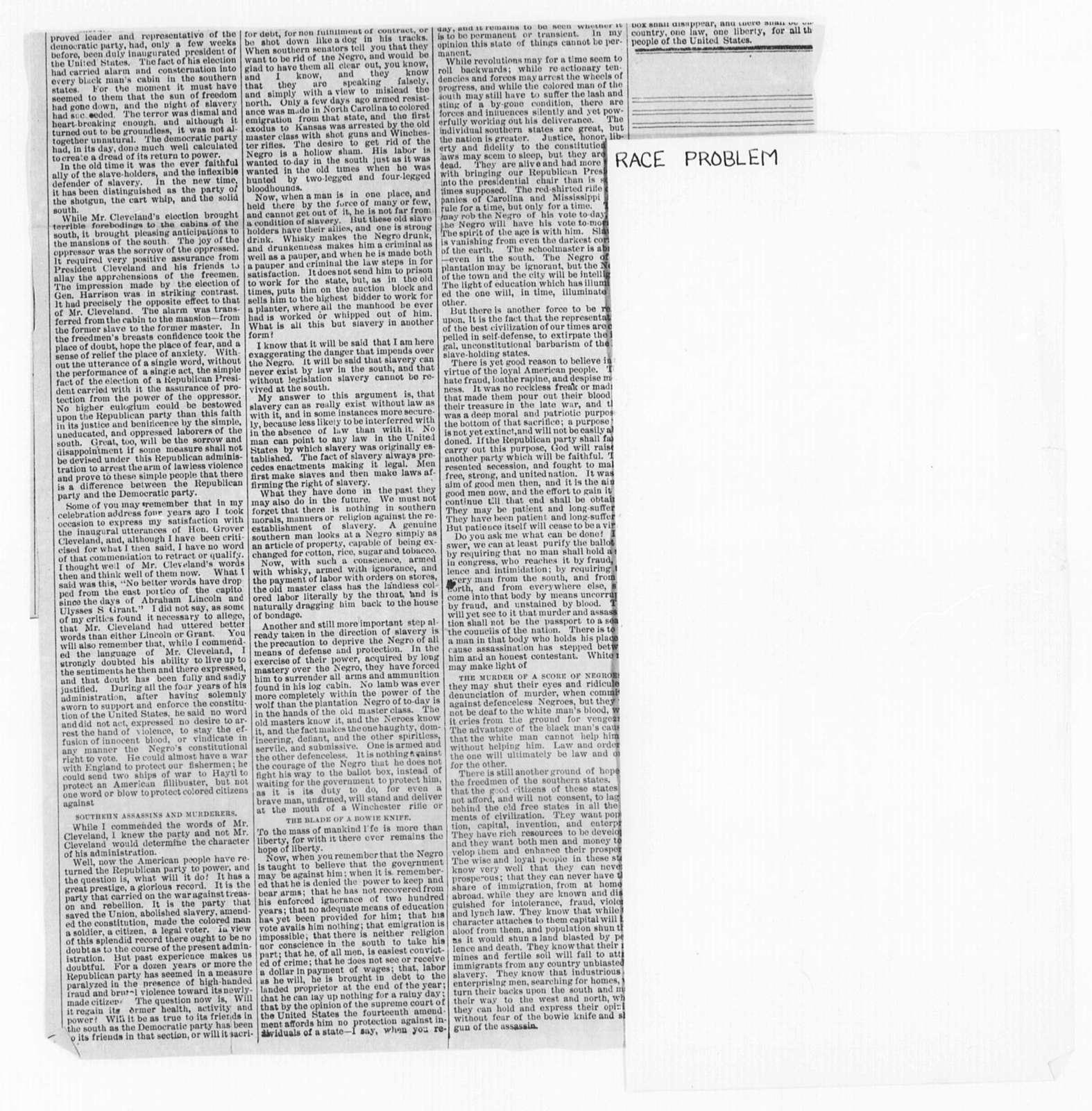 Race Problem - Folder 2 of 2