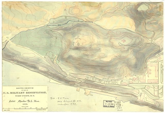 Route sketch of part of U.S. Military Reservation, West Point, N.Y. /