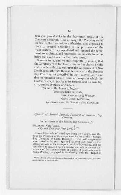 Samana Bay Co. of Santo Domingo v. Dominican Government - Folder 2 of 2