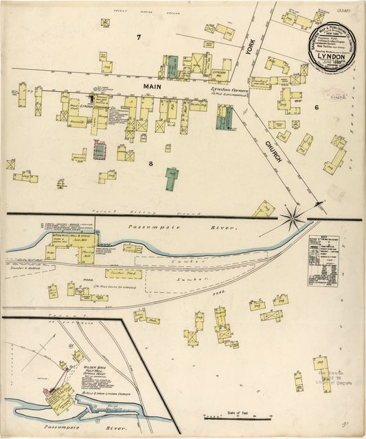 Sanborn Fire Insurance Map from Lyndon, Caledonia County, Vermont.