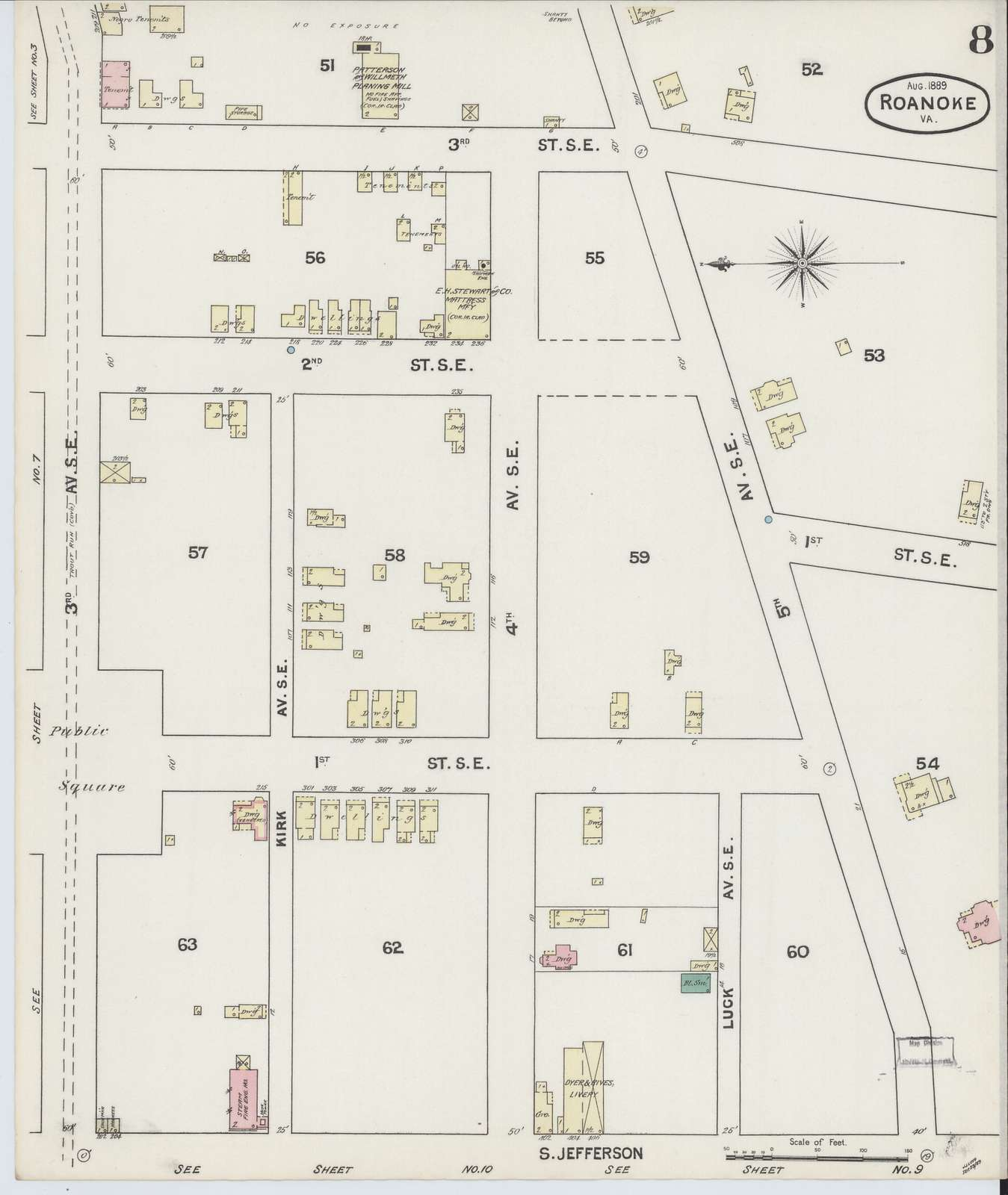 Sanborn Fire Insurance Map from Roanoke, Independent Cities, Virginia