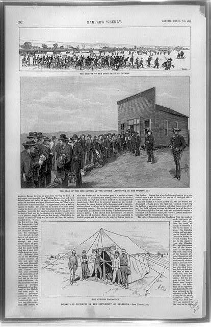 Scenes and incidents of the settlement of Oklahoma