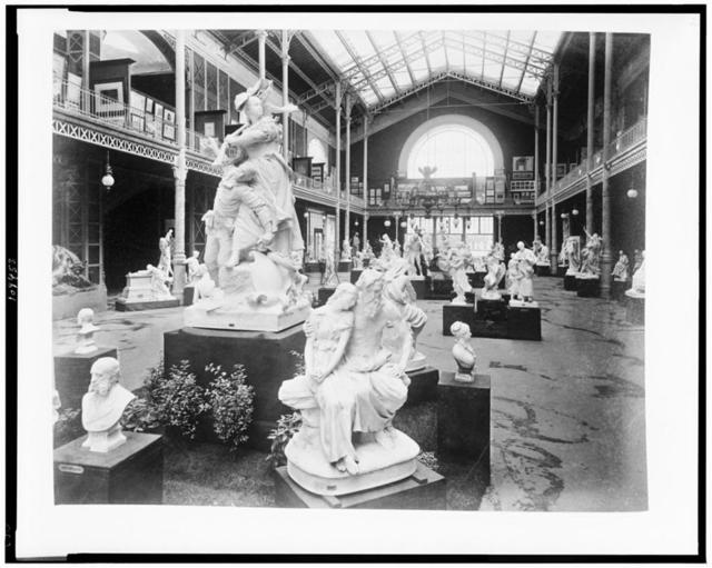 [Sculpture exhibited in the Gallery Rapp, Palace of Fine Arts, Paris Exposition, 1889]