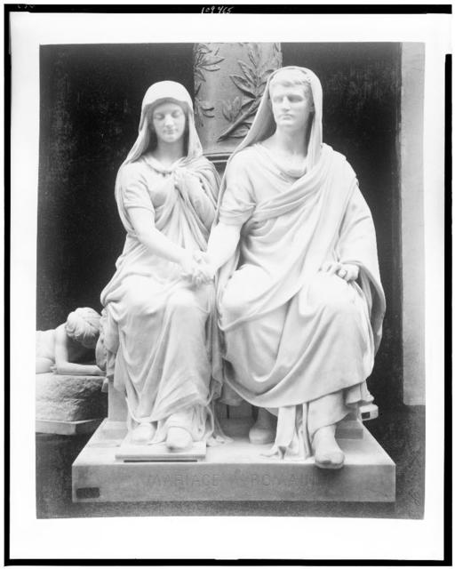 [Sculpture of Roman couple exhibited in Palace of Fine Arts, Paris Exposition, 1889]