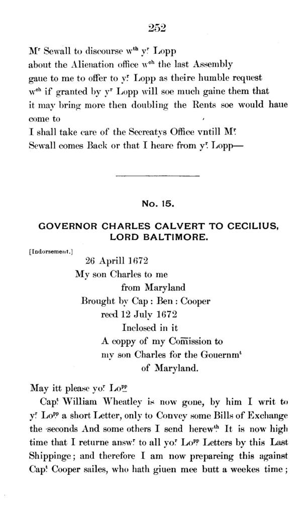 The Calvert papers.