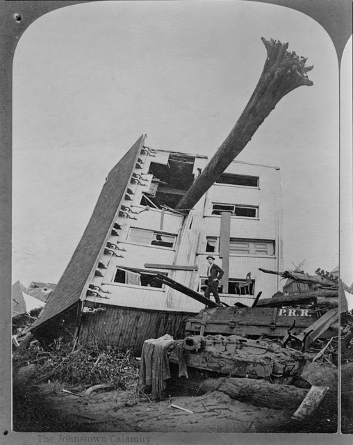 The Johnstown calamity. A slightly damaged house