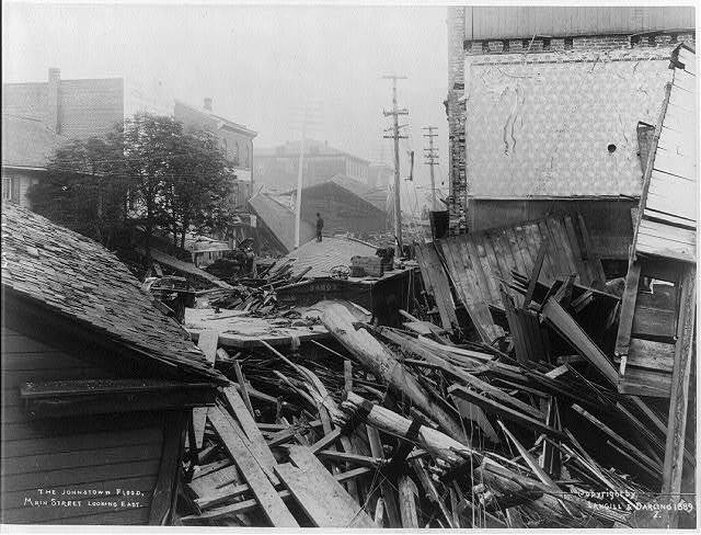 The Johnstown flood - Main Street, looking east