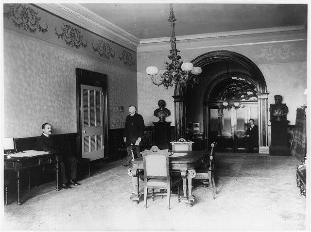 The office lobby in the White House