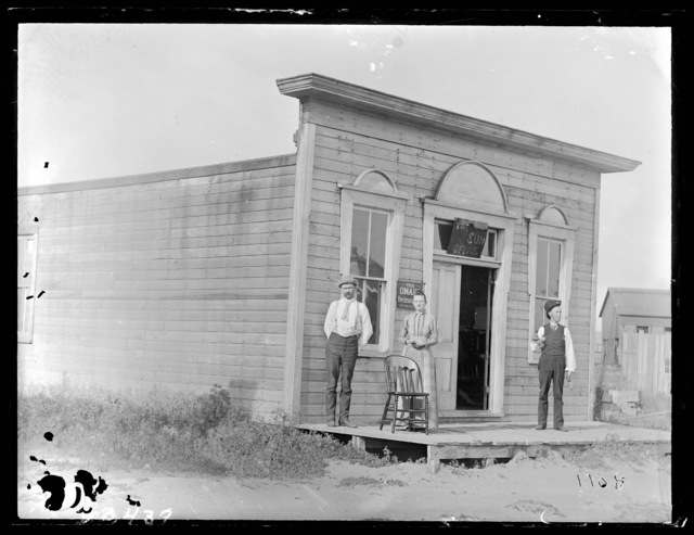 The Sun newspaper offices in Anselmo, Custer County, Nebraska.