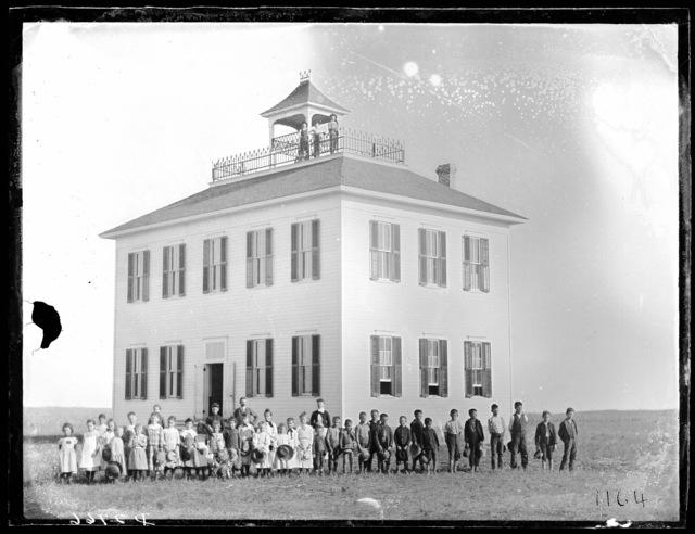 Two-story school building, Anselmo, Custer County, Nebraska.