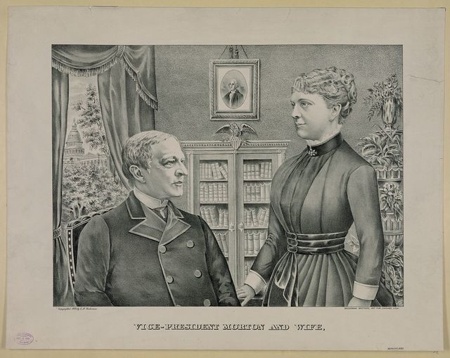 Vice-president Morton and wife