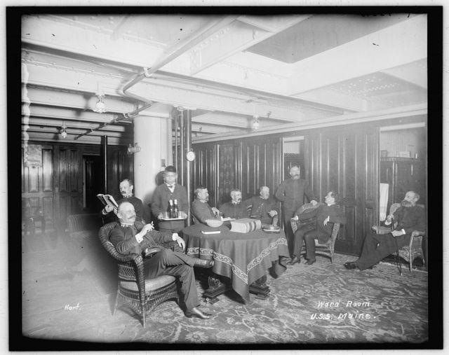 Ward room, U.S.S. Maine