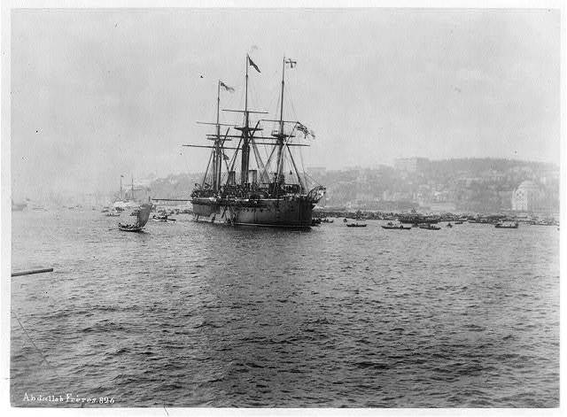 [Warship Kaiser on which Kaiser Wilhelm II of Germany came to Istanbul] / Abdullah Frères.