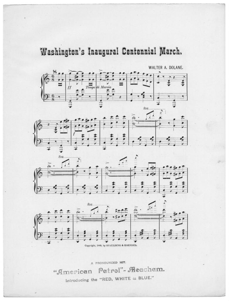 Washington's inaugural centennial march