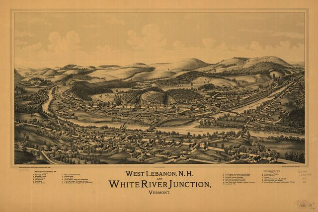 West Lebanon, N.H., and White River Junction, Vermont.