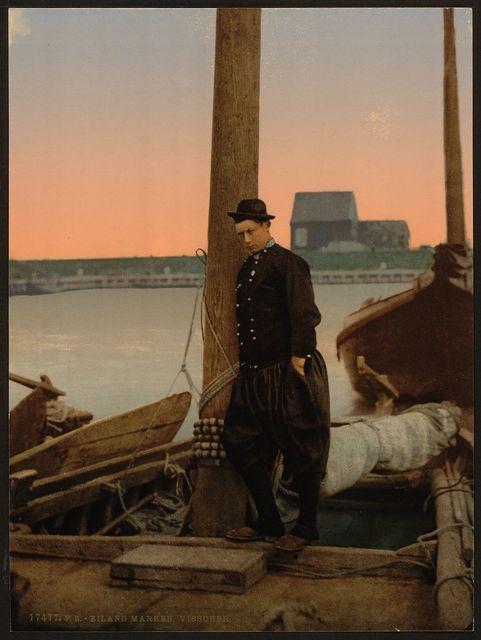[A Dutch fisherman, Marken Island, Holland]