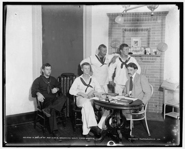 A Group of patients, Brooklyn Navy Yard Hospital